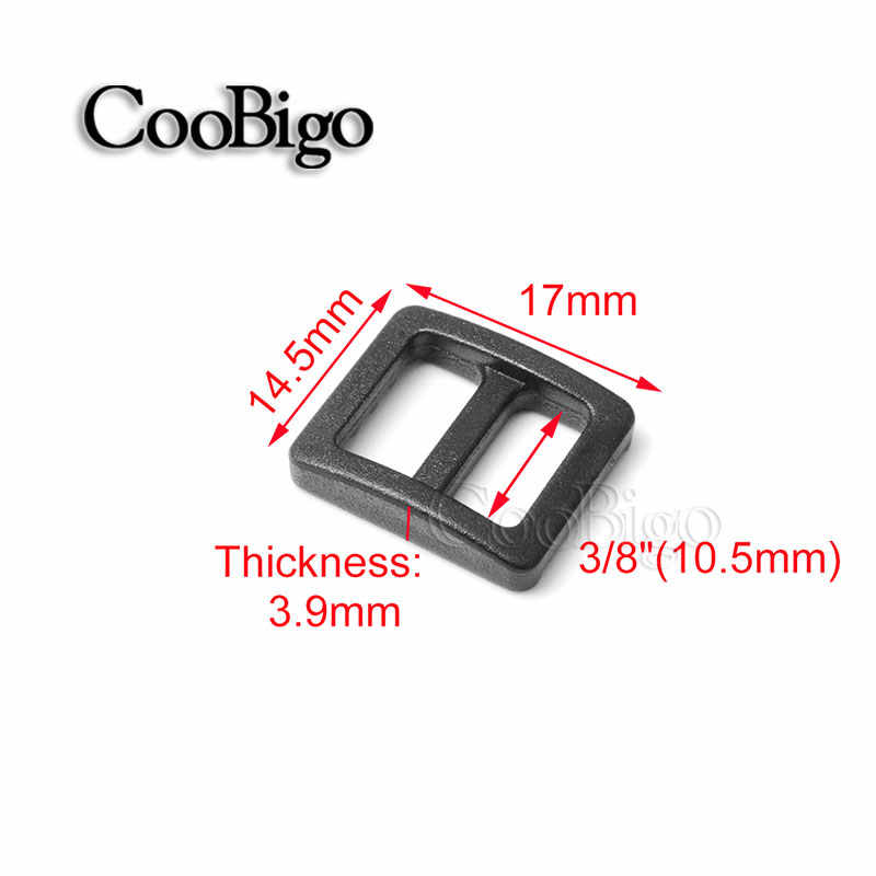 10ชิ้นแพ็คพลาสติกโค้งไตรฉุยฉาย10/16/20/25/32/38มิลลิเมตรเลื่อนปรับหัวเข็มขัดกว้างสไตล์สายรัดสายรัดกระเป๋าเป้สะพายหลังกระเป๋าชิ้นส่วน