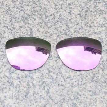 E O S spolaryzowane wzmocnione wymienne soczewki do okularów Oakley Frogskins-fioletowe fioletowe lustro spolaryzowane tanie i dobre opinie Eye Opening Stuff Poliwęglan Okulary akcesoria Fit for Oakley Frogskins Frame UV400 One size inches As your choice Reduces glare and impact resistant