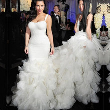 Amazing Luxuries Mermaid Court Train Wedding Dress for