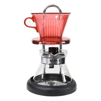 glass drip filter coffee pot/Household glass siphon pot Hand punch coffee tool combination