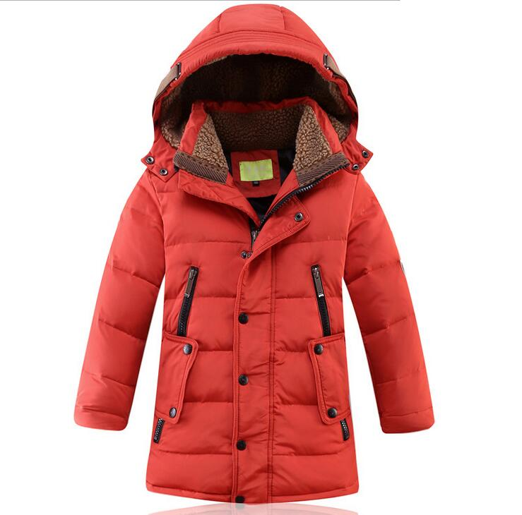 2017 New Winter Duck Down Jacket Teenager Casual Winter Jacket For Boys Hooded Warm Thicker Jacket  Outwear Coat -30 Degree Sale