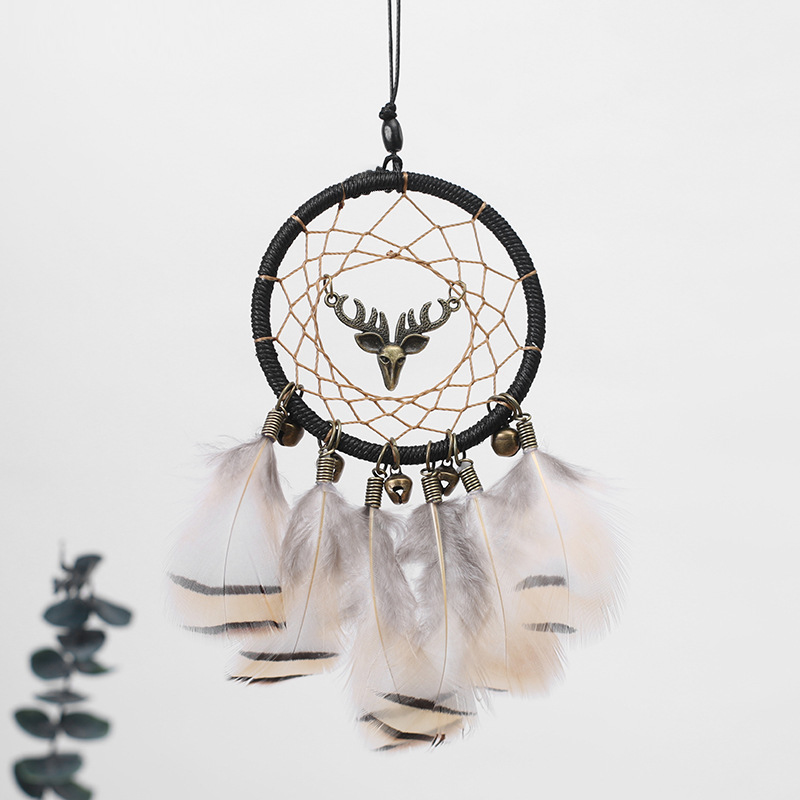 Image 4 - Handmade Dream Catcher Ethnic Feather DreamCatcher Home Wall car wedding Art Hangings Decorations Gift Pendant 2019-in Ornaments from Automobiles & Motorcycles