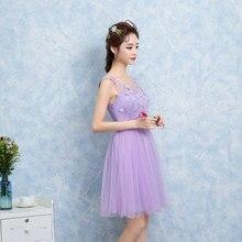 c9ff162e98 Słodkie pamięci światła purpurowy sukienka druhna wedding party gości  siostry krótkie suknie dla druhen SW0014(
