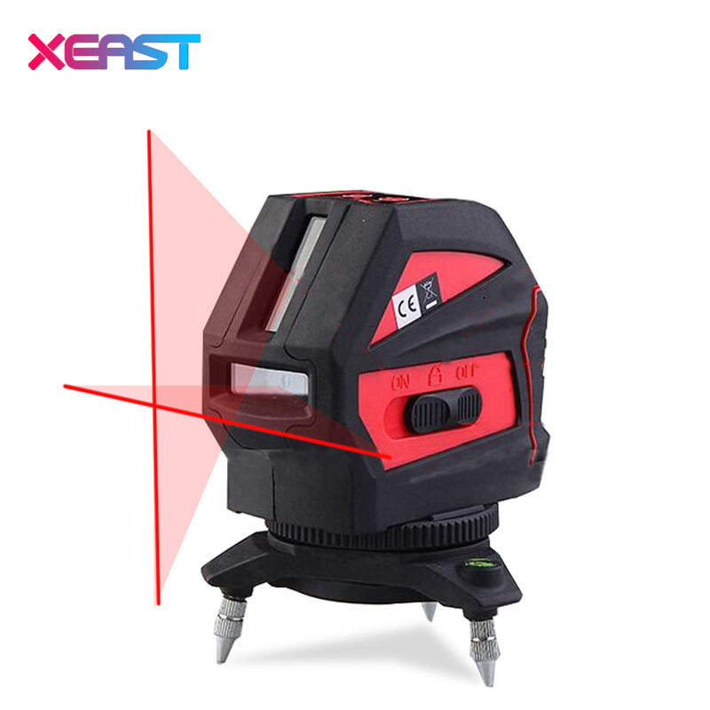 XEAST XE-16A Red Laser Level 2 Lines Cross Laser Line Horizontal And Vertical Self Leveling With Oblique Line Outdoor free shipping highly visible line laser kapro 810 with vertical and horizontal vials