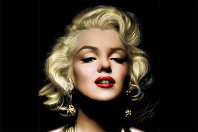 Custom Canvas Art Sexy Marilyn Monroe Poster Wallpaper Red Lips Wall Stickers Christmas