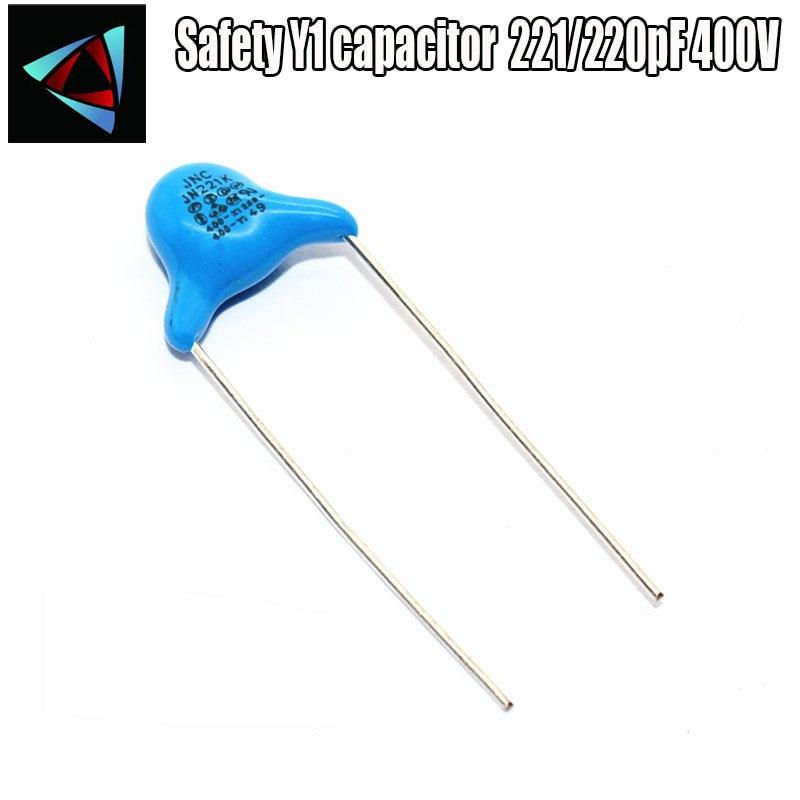 10 шт 221/220pF 400V безопасный Y1 конденсатор|Конденсаторы|   | АлиЭкспресс - Радиодетали