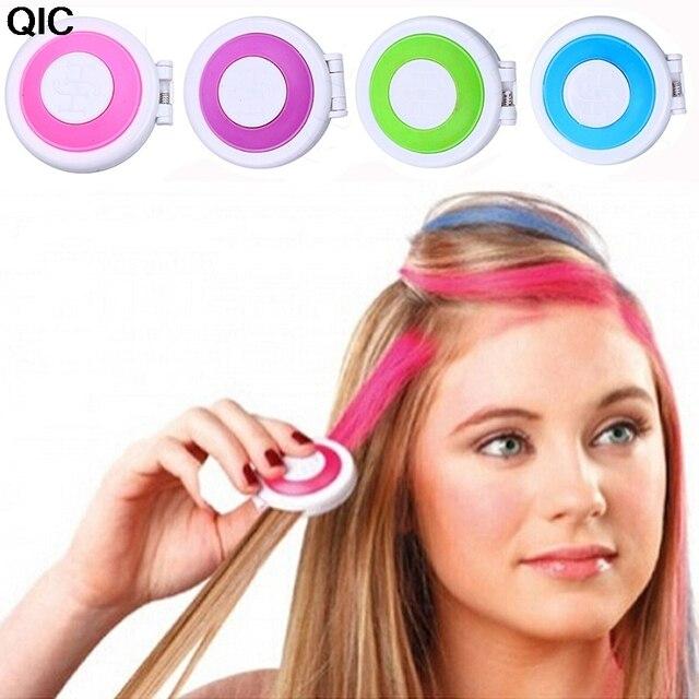 1 Set Spray Colored Hair Chalk Powder Cake Temporary Hair Dye Color ...