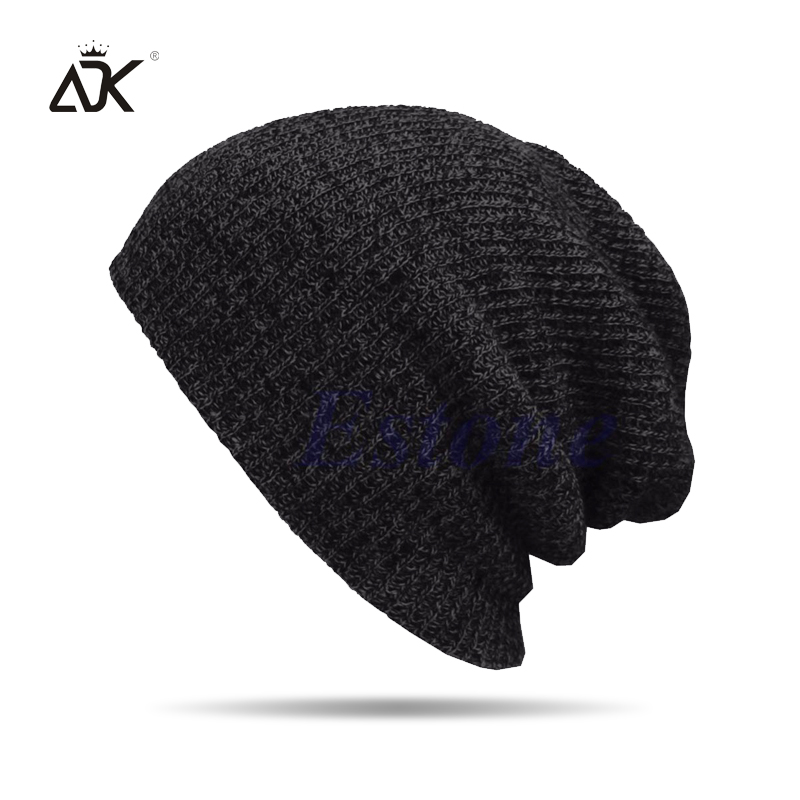 2a41d83a111 Aliexpress.com : Buy Winter Hat Female Male Soft And Warm Skullies Beanies  Casual Knitted Hat Mixed Color Unisex Hat Acrylic Cuffed Hat from Reliable  ...
