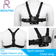 Ruigpro Adjustable Harness Chest Strap Mount For Gopro Hero 7 6 5 4 Session SJCAM SJ4000 Xiaomi Yi 4K h9 Go Pro 7 Accessory metal quick release mount for gopro hero 6 5 7 black session xiaomi yi 4k sjcam sj4000 tripod plate bracket base for go pro hero