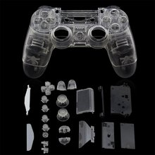 PS4 Controller Custom Clear Transparent Full Housing Gamepad Shell Case Buttons Cover Kit Replacement for Sony Playstation 4 V1 стоимость