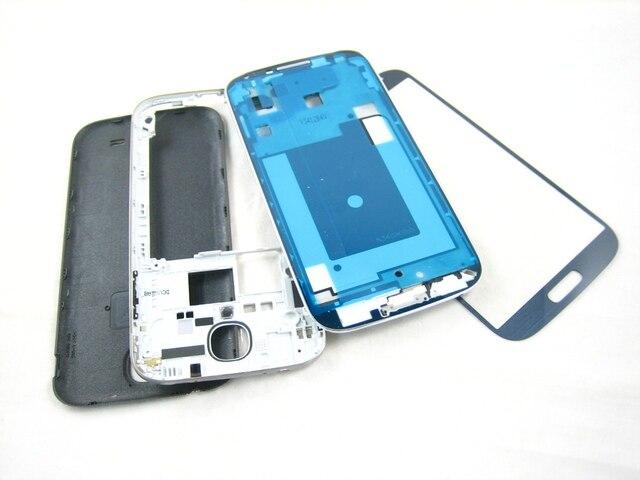 Замена Крышки Корпуса + Переднее Стекло-Экран для Samsung Galaxy S4 SIV GT-i9500 i9500 Black