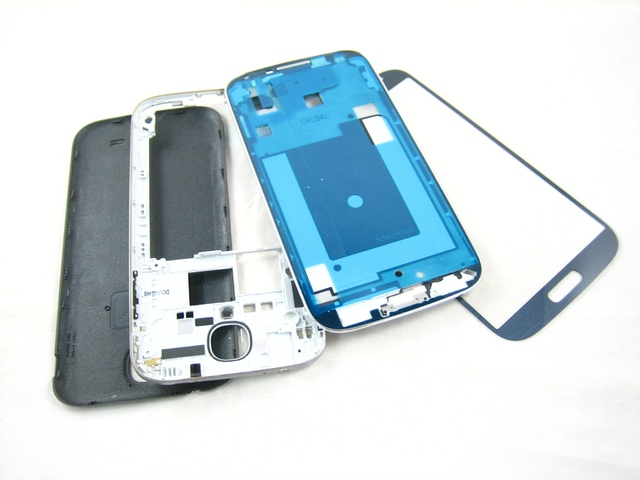 Replacement Cover Housing + Front Glass Screen for Samsung Galaxy S4 SIV GT-i9500 i9500 Black