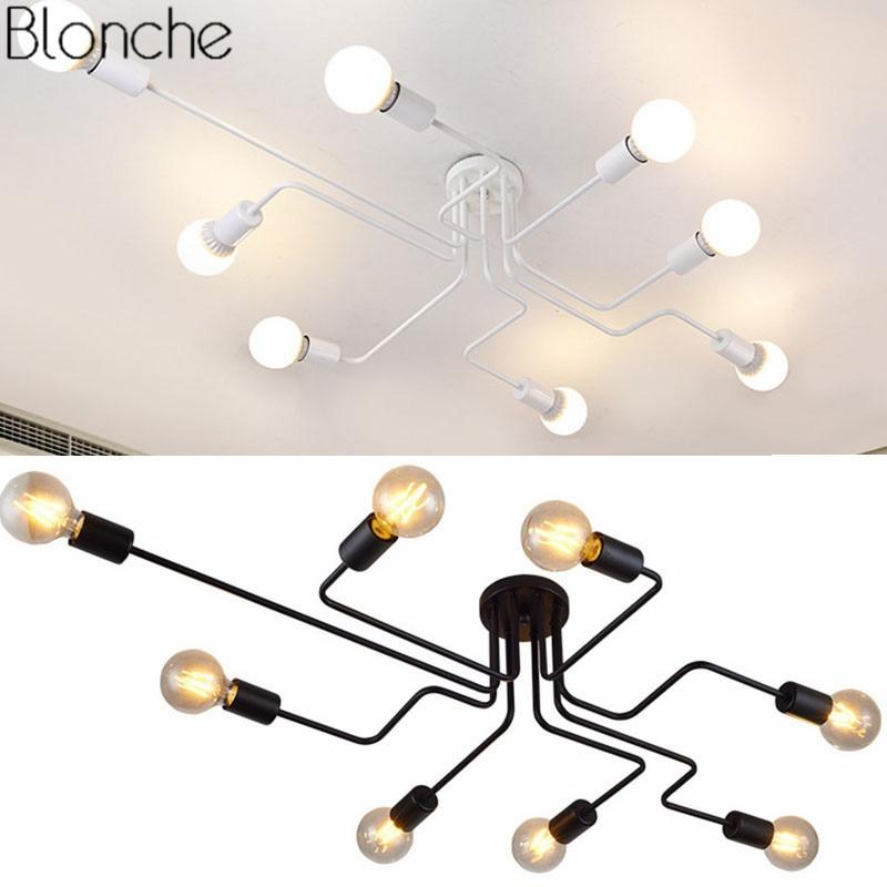 Modern Retro Ceiling Lights 4 6 8 Heads Led Lamp For Living
