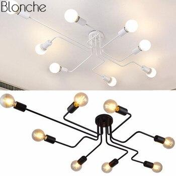 Moderno Retrò Luci di Soffitto 4/6/8 teste Ha Condotto La Lampada per Soggiorno Ferro Industriale Decor Light Fixtures loft Decorazione Della Casa di Illuminazione