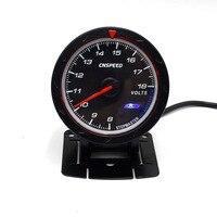 CNSPEED Black 60MM Car Voltmeter 8 18V Voltage Gauge Red White Lighting Volt Gauge Volt Meter