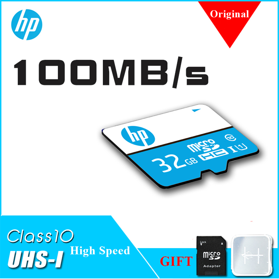 100% Original HP Micro SD Card Class10 UHS-I TF Card 16GB 32GB 64GB 128GB  100Mb/s Memory Card For Camera Samrtphone Tablet  TV