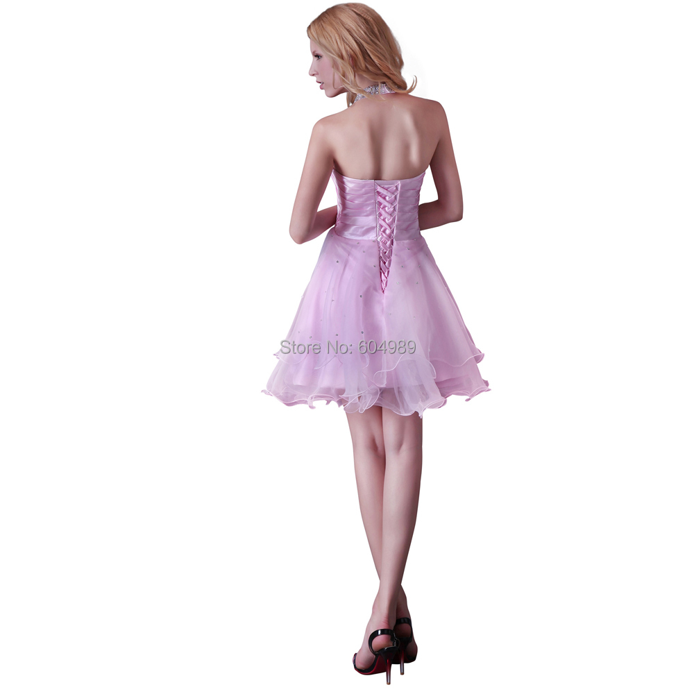 174f4f2f2bb11 New Free Shipping Grace Karin Junior Sexy Stunning Halter Pink Cocktail  Dress Party Dresses CL3521-in Cocktail Dresses from Weddings & Events on ...