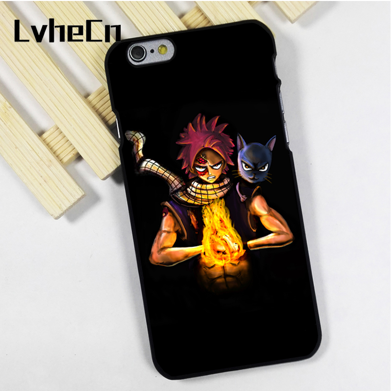 LvheCn phone case cover fit for iPhone 4 4s 5 5s 5c SE 6 6s 7 8 plus X ipod touch 4 5 6 Fairy Tail Happy Aye Sir Character