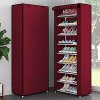 Многослойный пыленепроницаемый шкаф для обуви складной нетканый тканевый держатель для хранения обуви DIY сборка органайзер для обуви стой...