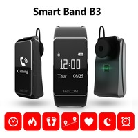Smartband B3 Wristwatches Bluetooth Headphone Wireless Calling Sport Watch New Fitness Blood Pressure Heart Rate Tracker Monitor