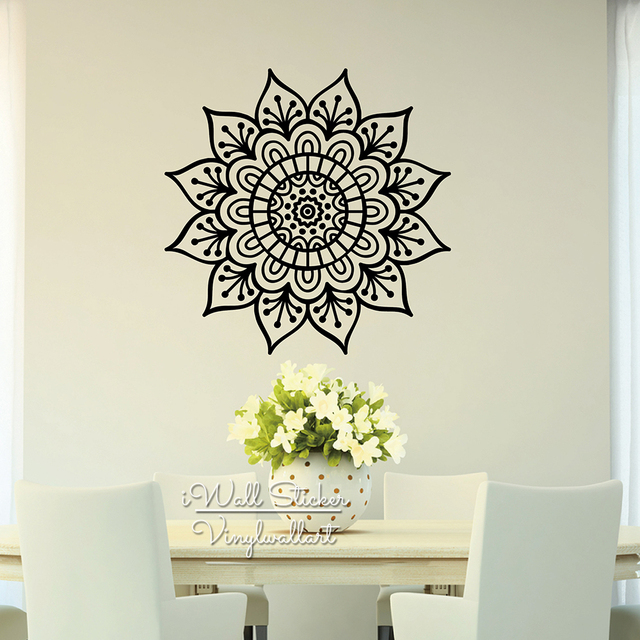 Aliexpresscom Buy Mandala Wall Sticker Modern Flower
