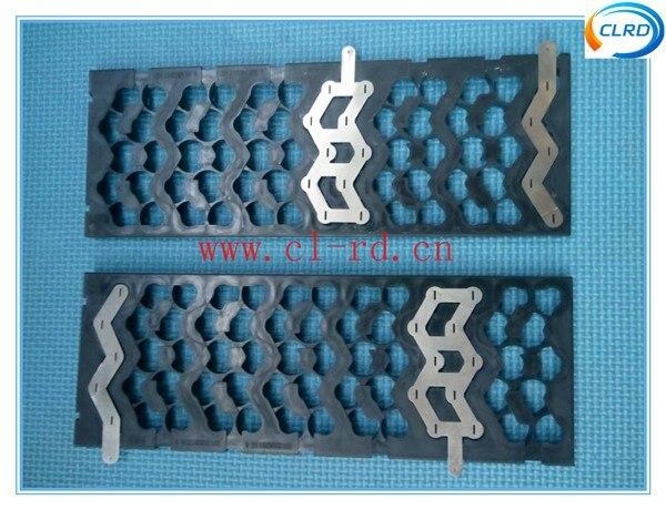 2PCS/LOT free shipping full set 13S5P battery pack bracket/holder with nickel plate sheet for battery pack welding