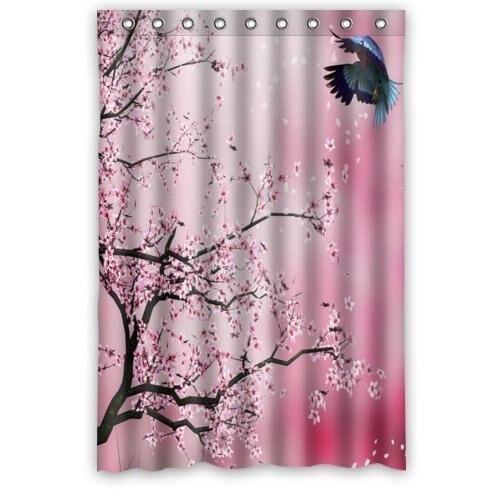 Beautiful Cherry Blossom Tree,Japan Cherry Blossom Art 100% Polyester Shower  Curtain (48u0026quot