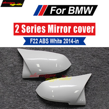 F22 Rear View Side Mirror Covers ABS Pure white For BMW 220i 228i 230i 230ixD 235i 2014-in