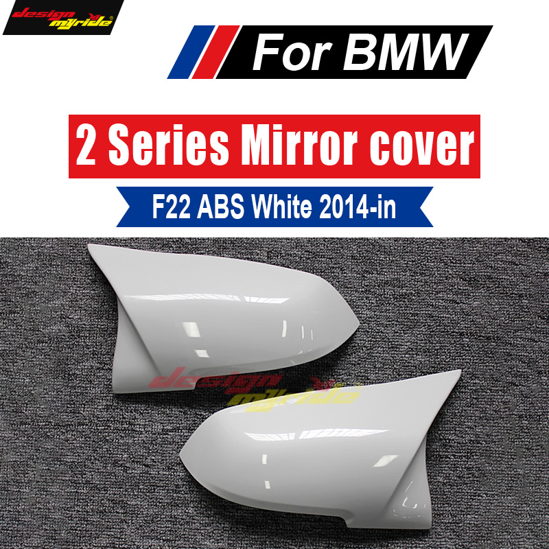 F22 Rear View Side Mirror Covers ABS Pure white For BMW F22 220i 228i 230i 230ixD 235i Rear View Side Mirror Covers 2014 in