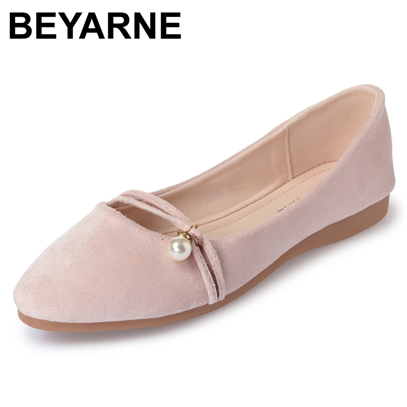 2017 Fashion Women Shoes Woman Flats high quality suede Casual Comfortable pointed toe Rubber Women Flat Shoe Hot Sale New Flats fashion women shoes woman flats high quality comfortable pointed toe rubber women sweet flats hot sale shoes size 35 40