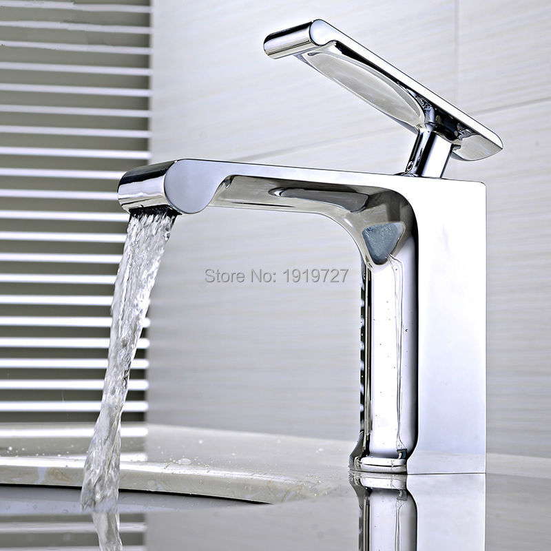Factory Direct 100% Brass 5 Yr Warranty Brand New Designer Square Vessel Faucet Coby Wide Wels Bathroom Basin Flick Mixer Tap