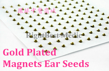 Magnets Gold Plated Ear Seeds Sticker Paste Bean Acupressure massage seed for Acupoint Therapy Auricular Acupuncture 121 PCS