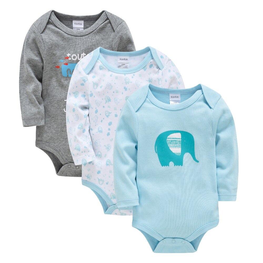 2019 KAVKAS Baby Boy Clothes Bodys Winter Baby   Romper   Newborn Wear Long Sleeve Jumpsuit