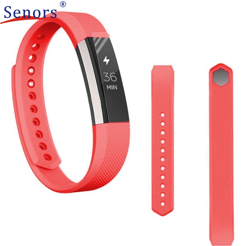 Superior Silicone Watch band Wrist strap For Fitbit Alta Smart Watch+Protective Film RD J6272