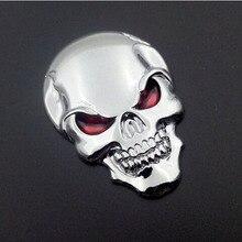 2016 yeni 3D kafatası kemik şeytan kafatası araba çıkartmaları motosiklet araba tankı rozeti çıkartma