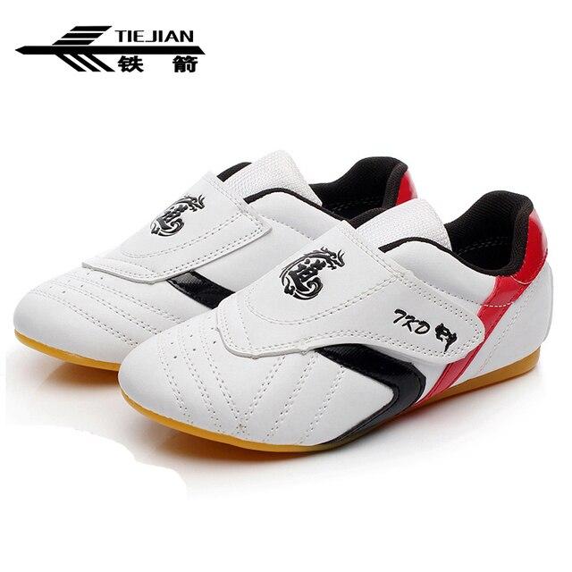 Новинка 2018 года; обувь для тхэквондо для детей и взрослых; дышащие мягкие туфли-оксфорды; профессиональные кроссовки для боевых искусств тхэквондо, каратэ, кунг-фу