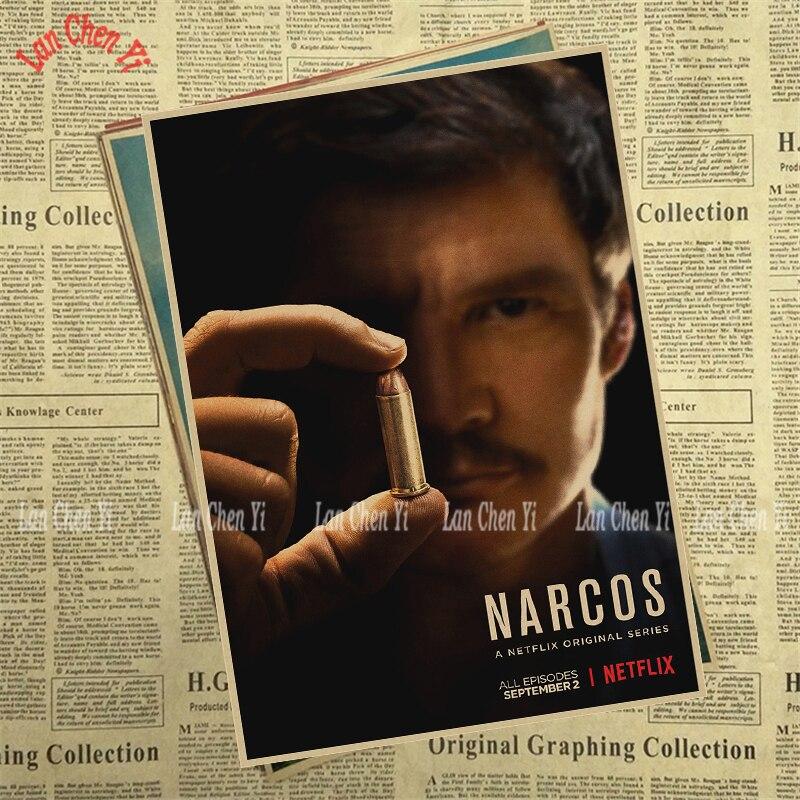 Теледидар ойнау Narcos Season Matte Kraft Paper - Үйдің декоры - фото 3