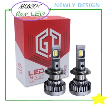 Super bright MBIN M5 Led Headlight kit H7 36w 8000LM 12v 24v car front driving lamp plug and play easy installed head lamp 6000k