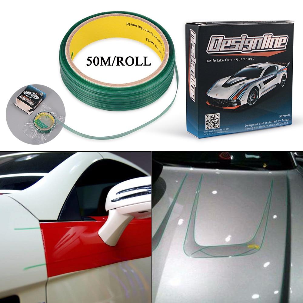 EHDIS 50M Knifeless Tape Design Line Car Wrap Vinyl Cutting Tape Carbon Film Car Sticker Wrapping Cut Accessories Cutter Tool