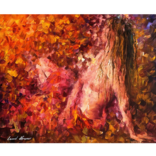 Hand Painted Landscape Abstract Thoughts-Of-Pleasure Knife Modern Oil Painting Canvas Art Living Room hallway Artwork Fine Art
