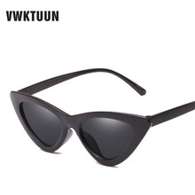 VWKTUUN Fashion Sexy Ladies Cat Eye Shades Retro Sunglasses Women Vintage Brand Designer Sun Glasses Female Oculos de sol UV400 стоимость