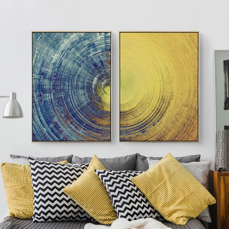 Nordic Decorative handmade Canvas Painting Abstract Pictures Modern Minimalist Concept No Frame Oil Vertical Rectangle