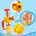 2016 Nuevo Estilo Bebé Juguetes de Baño Ducha Spray Encantadora Agua Pato Amarillo Aprendizaje Baño Conjunto De Juguete para niños y niñas