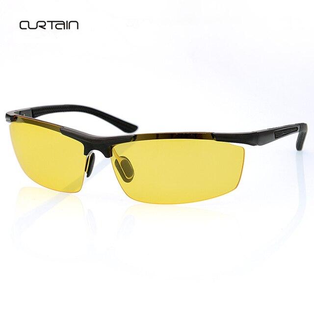 473618effc95a 2018 nova moda de alumínio e magnésio polarizada lentes amarelas visão  noturna óculos de condução óculos