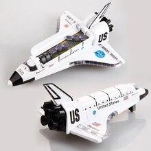 Сплав космический челнок/Литье под давлением космический корабль/космический самолет, модель космического корабля 19 см длина W/светильник и музыка