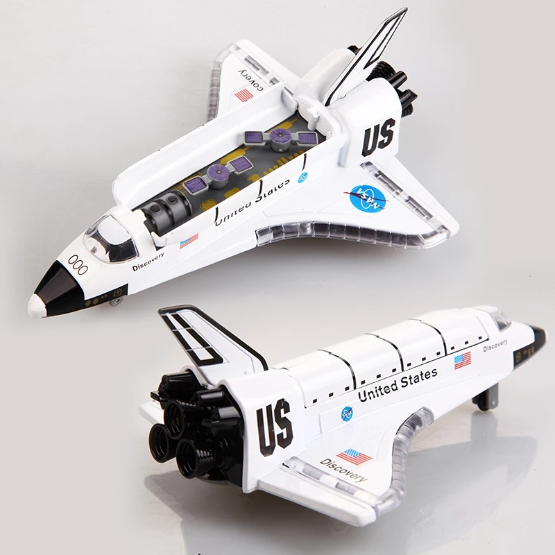Alloy Space Shuttle/Die Cast Space Craft /Space Plane, SpaceShip Model 19Cm Length W/Light and music space