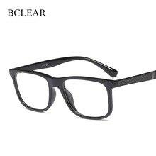 BCLEAR moda TR90 projekt koreański oprawki optyczne lekkie okulary mężczyźni kobiety Vintage marka ramki okularów Unisex popularne 2019 nowy
