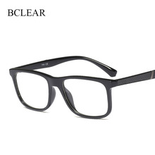 Bclear moda tr90 coreia design moldura óptica óculos de luz dos homens das mulheres do vintage marca quadros unisex popular 2019 novo
