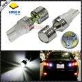 2 CRE'E unids/lote 6x5 W Poder Más Elevado T10 T15 Bombillas LED Para Coche Luces de Marcha Atrás de Copia de seguridad 912 921 W5W W5WB