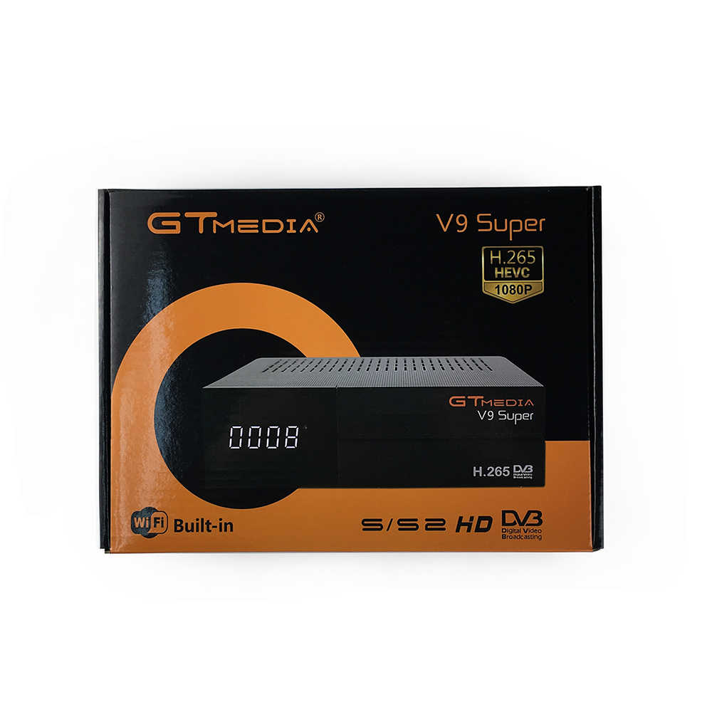 GTmedia V9 Super DVB-S2 di Sostegno della ricevente Satellite H.265 stesso gtmedia v8 nova freesat v8 super incorporato WiFi set top box